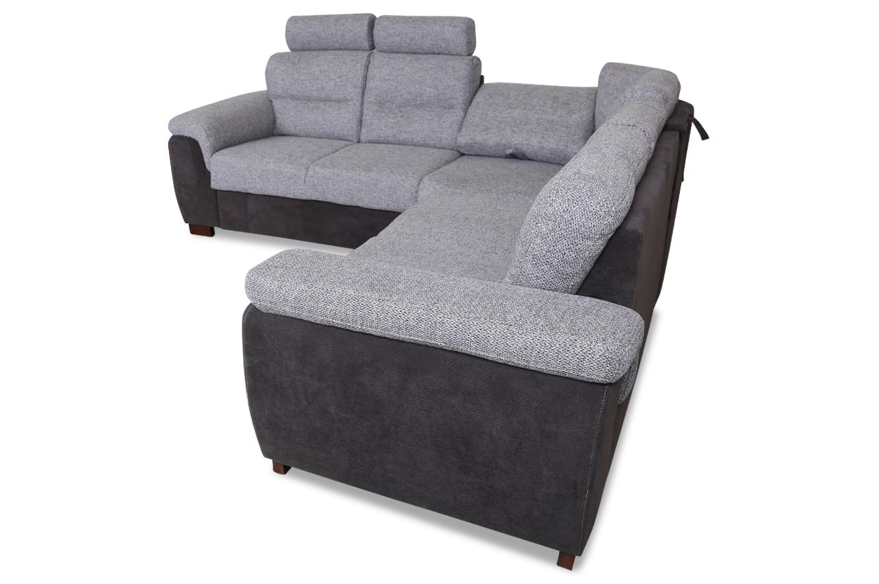 rundecke lino mit relax und schlaffunktion grau sofas zum halben preis. Black Bedroom Furniture Sets. Home Design Ideas