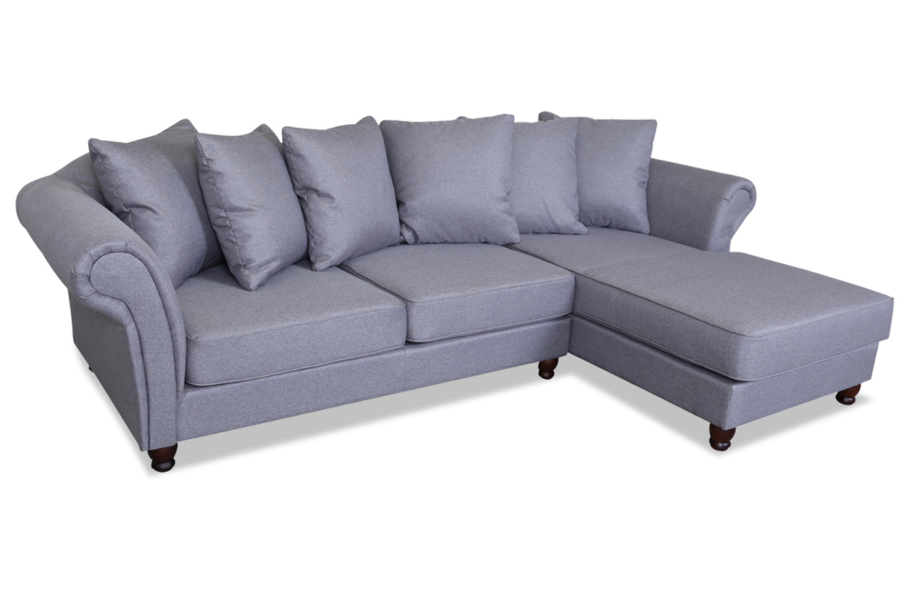 Beatris ecksofa clara grau sofas zum halben preis for Ecksofa 2 00