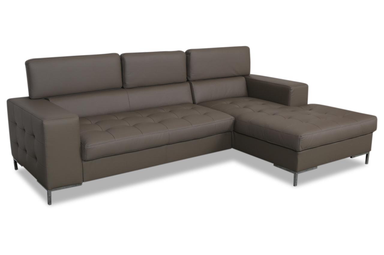 aek leder ecksofa rico braun sofas zum halben preis. Black Bedroom Furniture Sets. Home Design Ideas