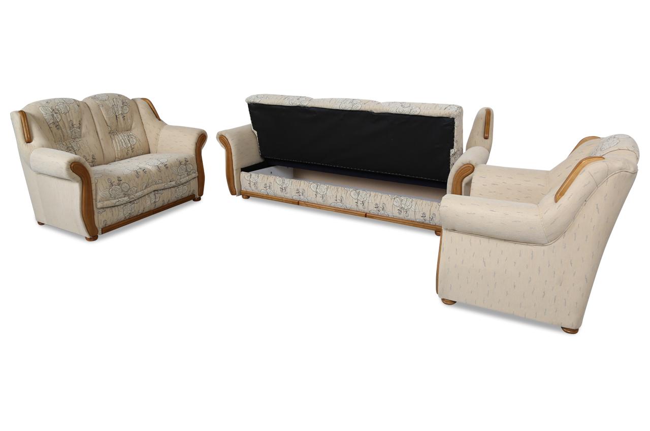 furntrade garnitur 3 2 1 vela mit schlaffunktion creme sofas zum halben preis. Black Bedroom Furniture Sets. Home Design Ideas