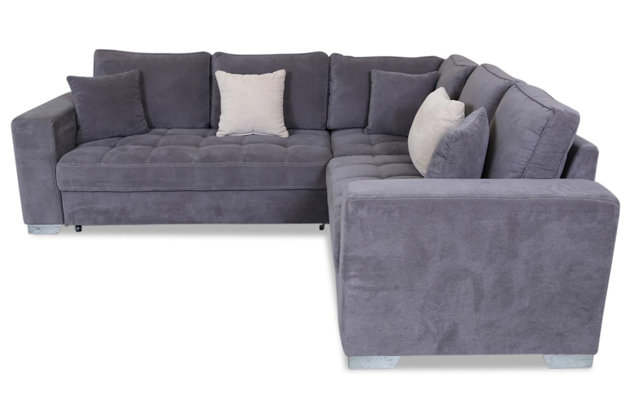rundecke arles mit schlaffunktion grau sofas zum halben preis. Black Bedroom Furniture Sets. Home Design Ideas