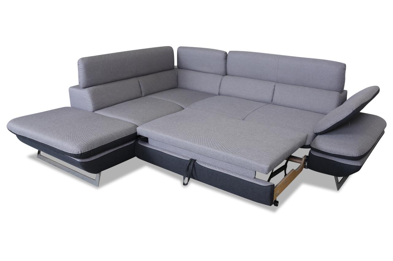 cotta ecksofa xl prestige mit schlaffunktion grau sofas zum halben preis. Black Bedroom Furniture Sets. Home Design Ideas