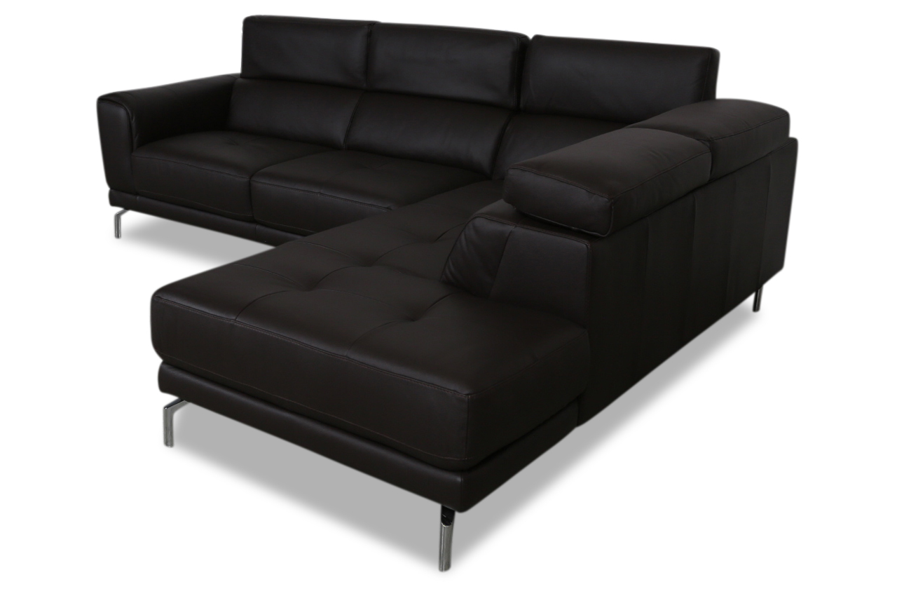 furntrade leder ecksofa xl u144 schwarz mit federkern sofas zum halben preis. Black Bedroom Furniture Sets. Home Design Ideas
