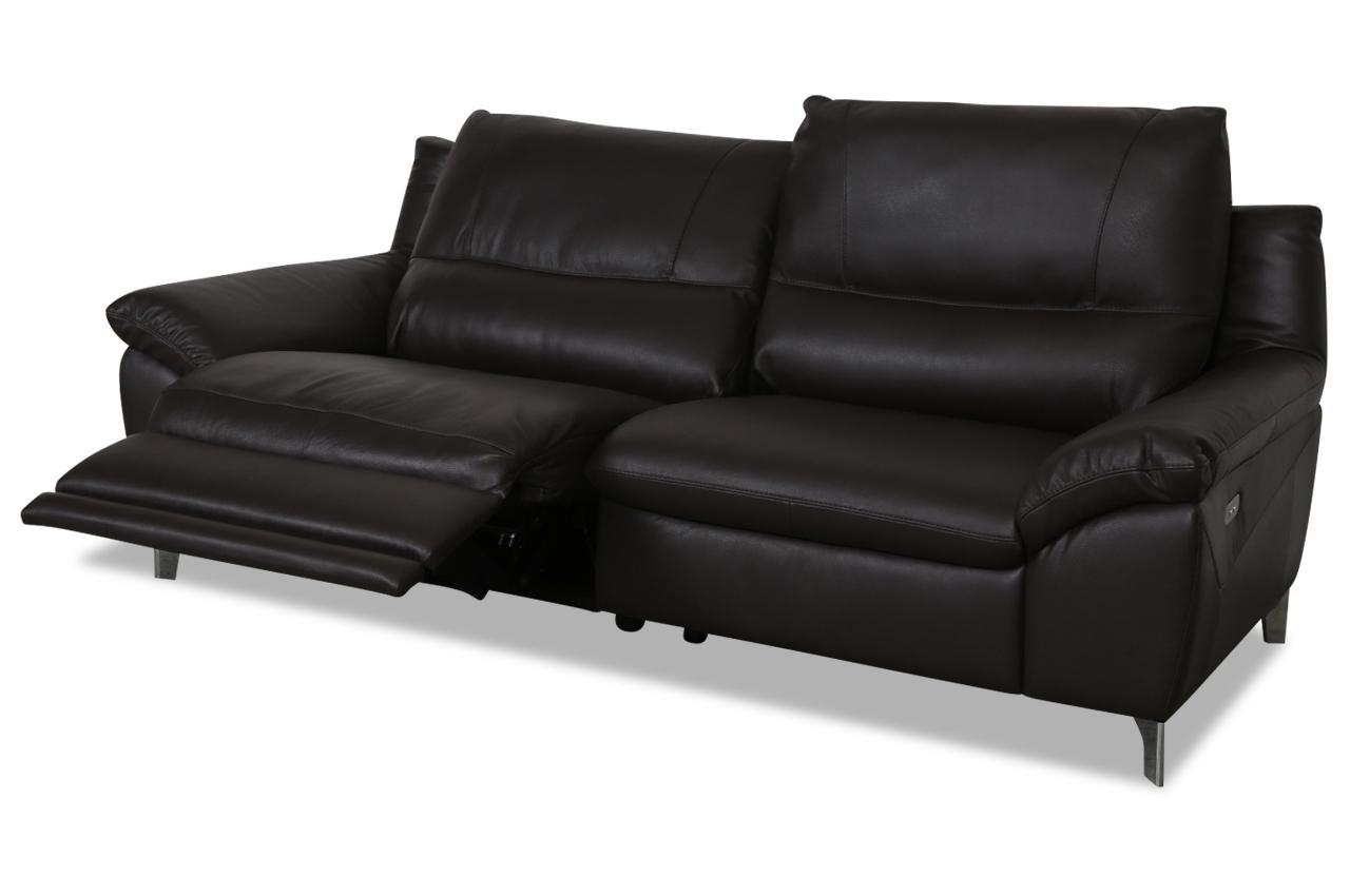 editions leder 2er sofa u200 braun mit federkern sofas zum halben preis. Black Bedroom Furniture Sets. Home Design Ideas