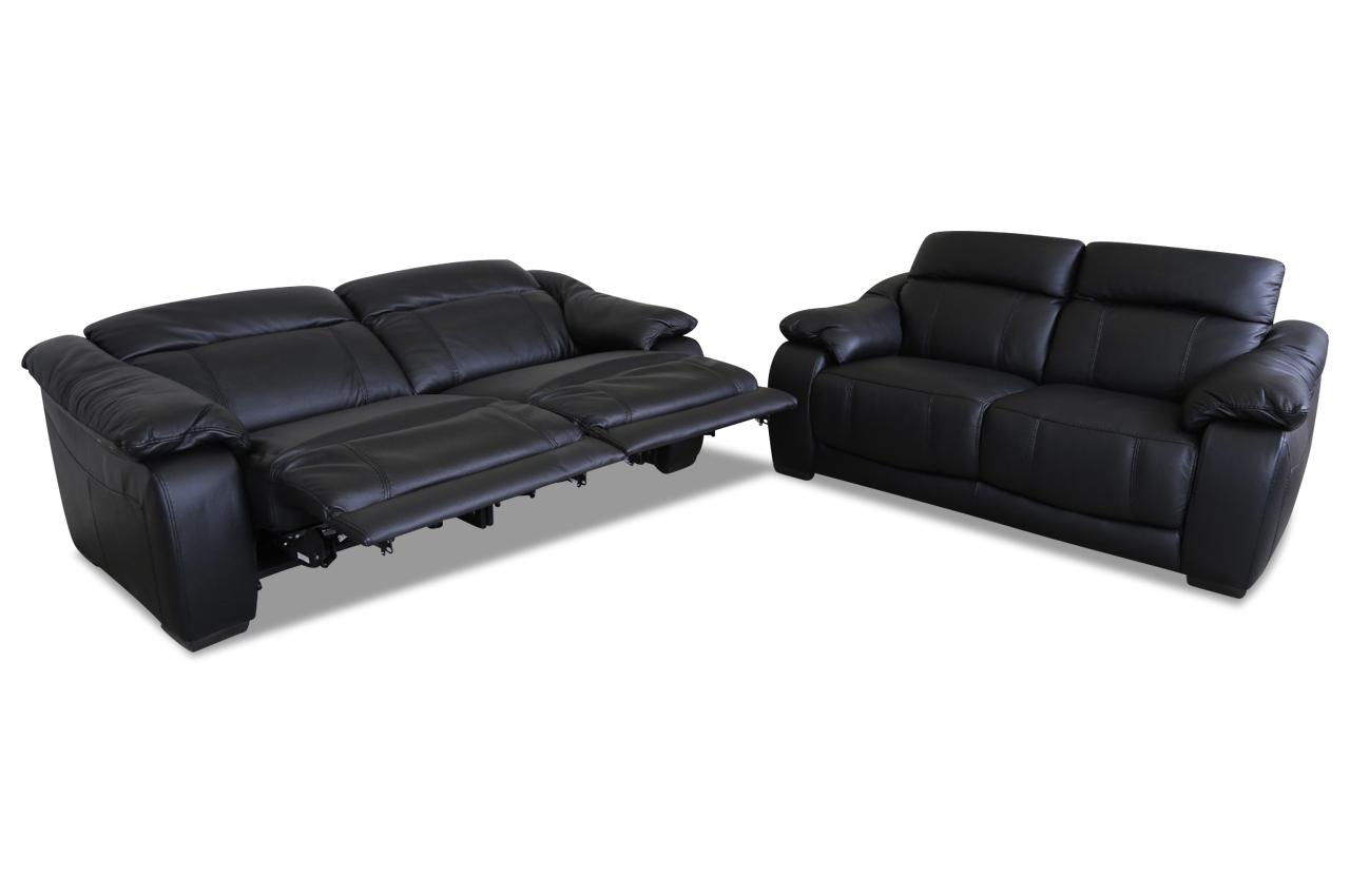furntrade leder garnitur 3 2 u076 schwarz sofas zum halben preis. Black Bedroom Furniture Sets. Home Design Ideas