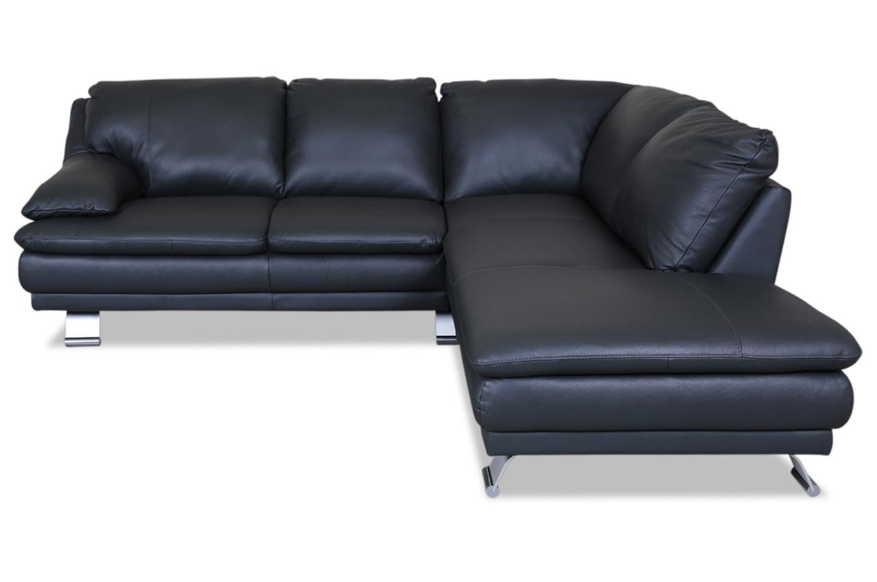 furntrade leder ecksofa xl u118 grau mit federkern. Black Bedroom Furniture Sets. Home Design Ideas