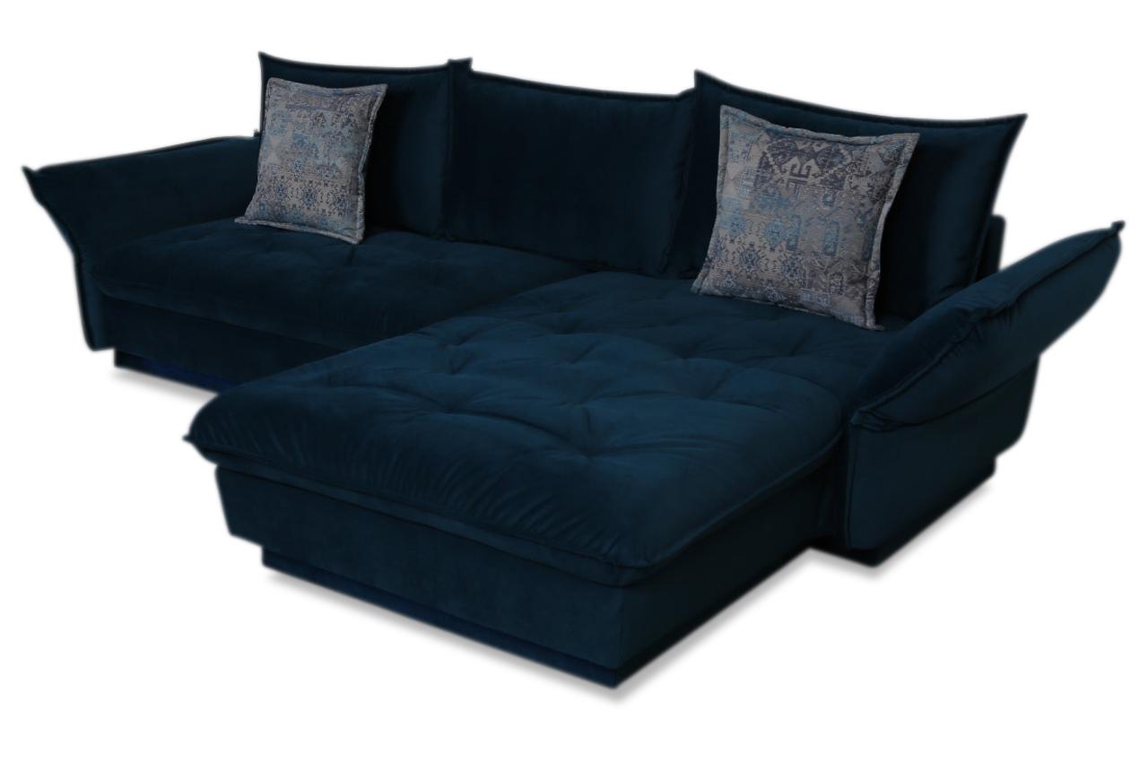 Ecksofa Linus - mit LED und Schlaffunktion - Blau   Sofas ...