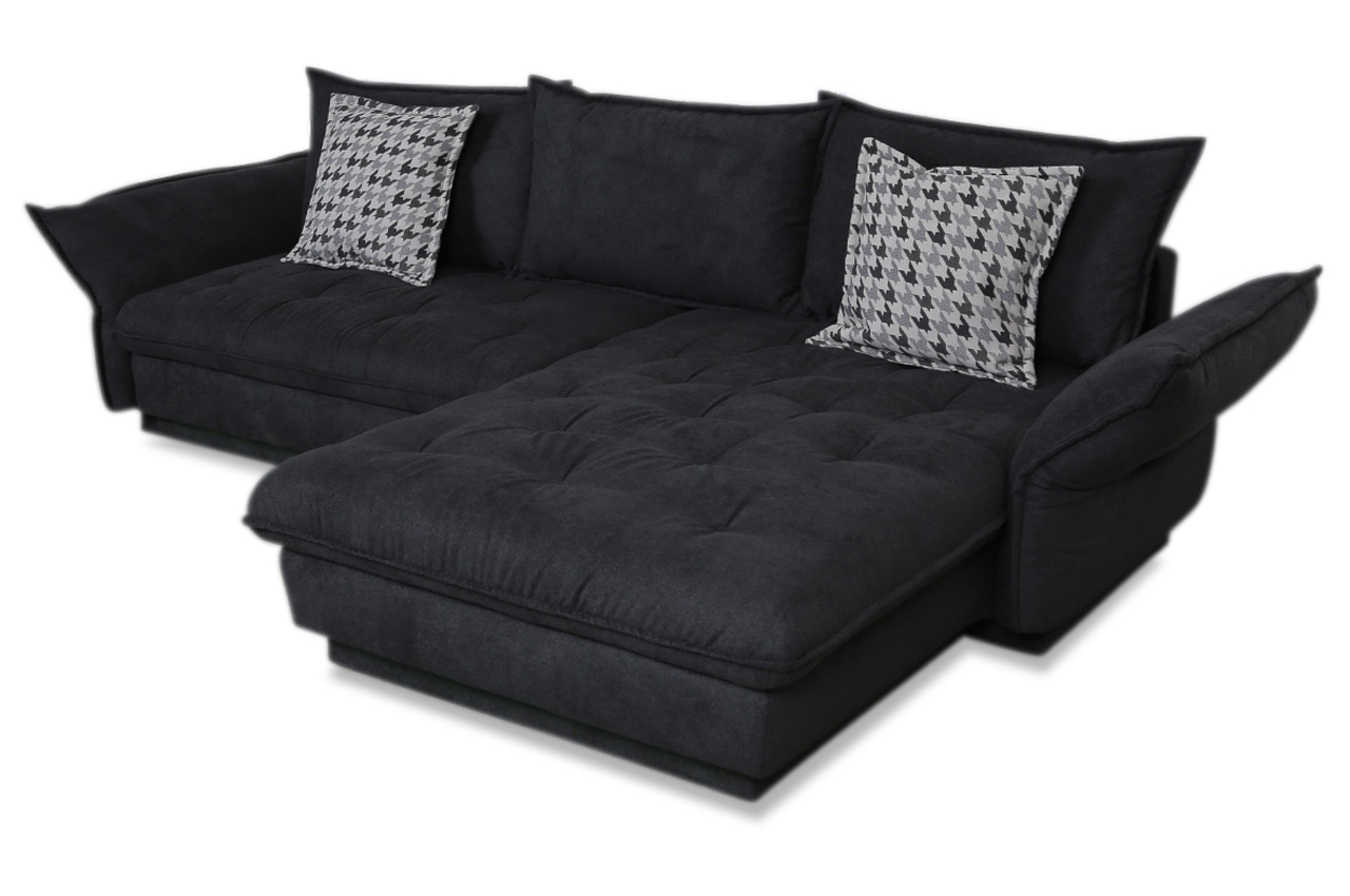ecksofa linus mit led und schlaffunktion anthrazit. Black Bedroom Furniture Sets. Home Design Ideas