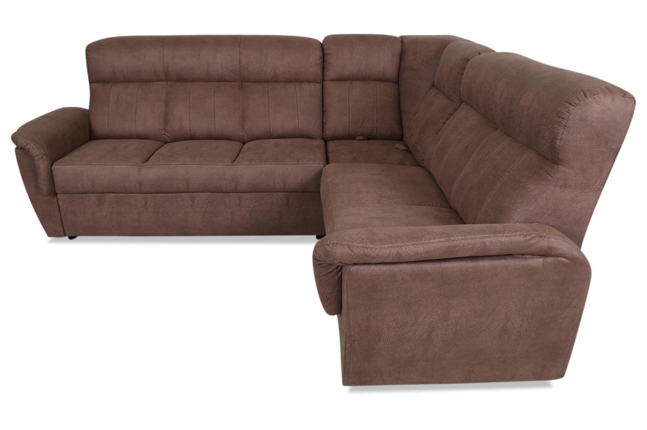 furntrade ecksofa prato mit sitzverstellung braun sofas zum halben preis. Black Bedroom Furniture Sets. Home Design Ideas