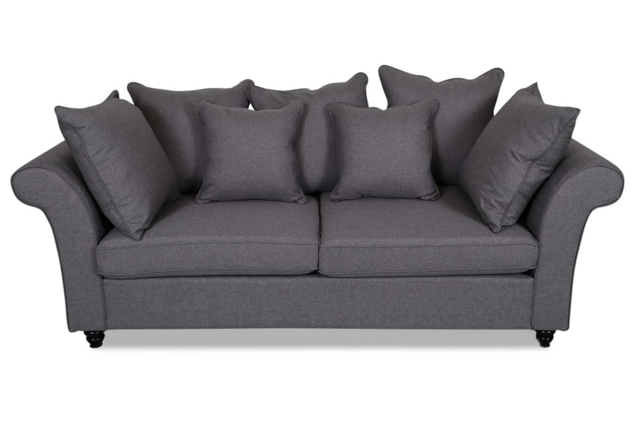 erelita 3er sofa namiral grau sofas zum halben preis. Black Bedroom Furniture Sets. Home Design Ideas