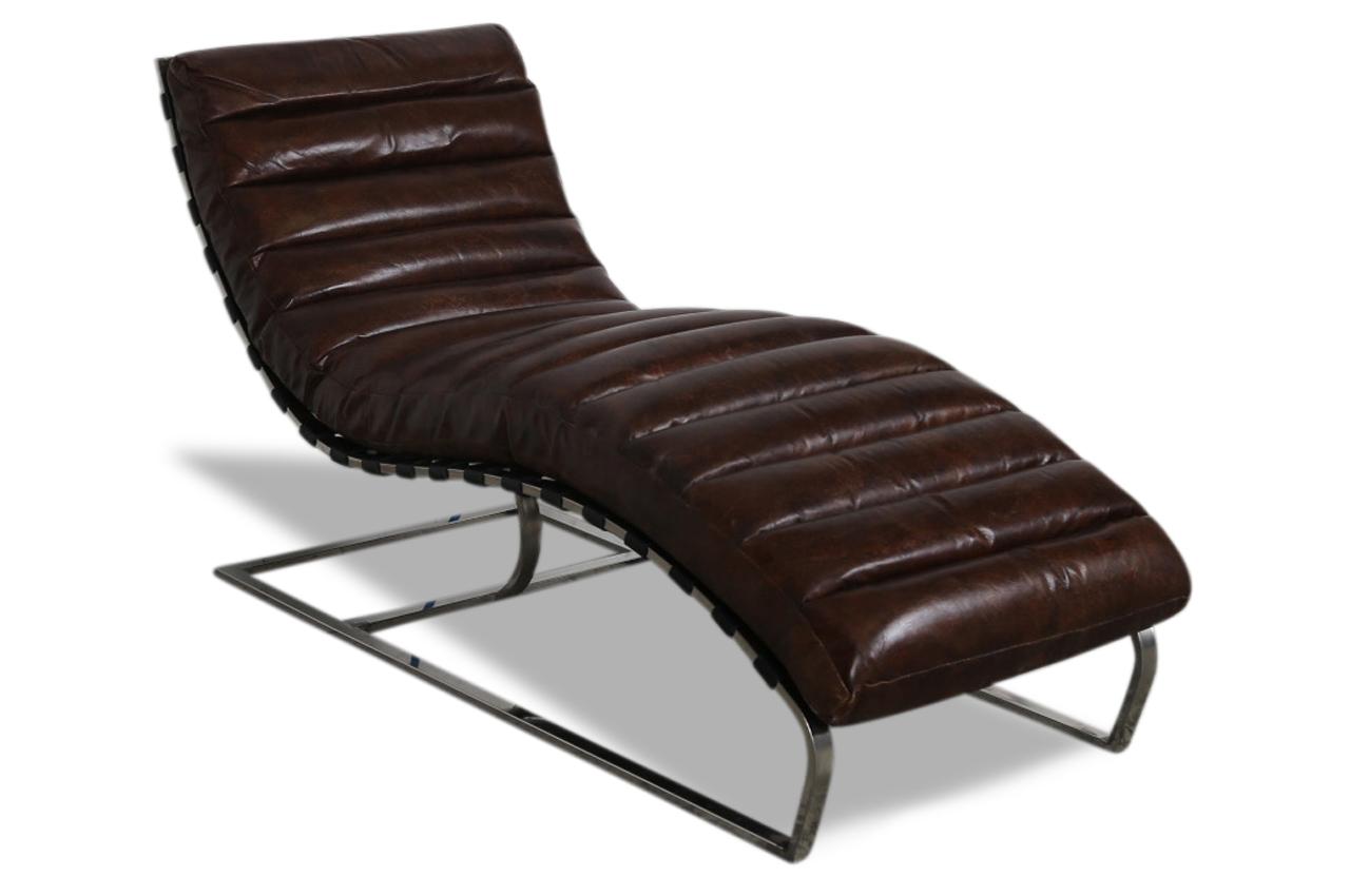 Aek leder recamiere 5288 braun sofas zum halben preis - Leder recamiere ...