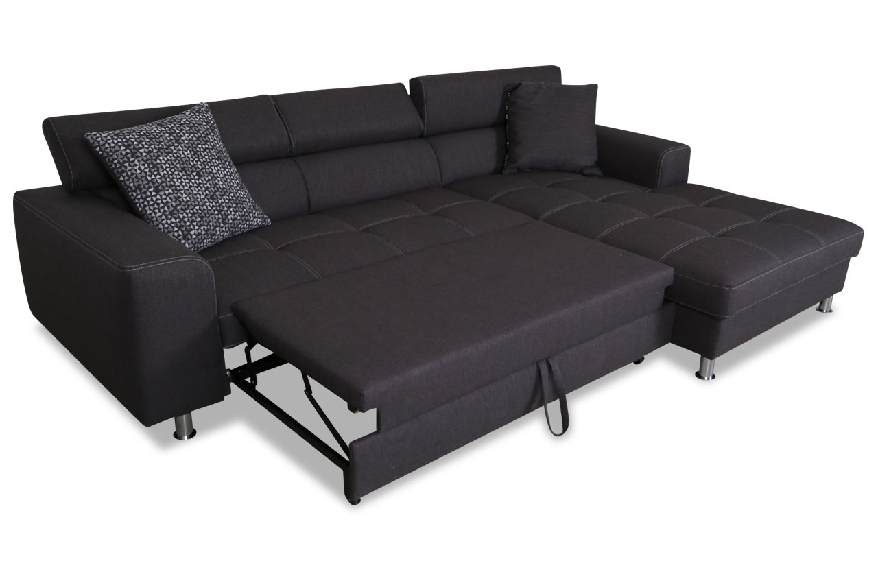 ecksofa finn mit schlaffunktion grau sofas zum. Black Bedroom Furniture Sets. Home Design Ideas