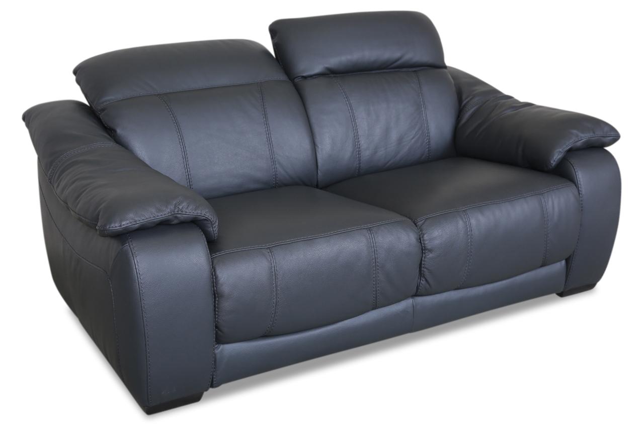 editions leder 2er sofa u076 grau mit federkern sofas zum halben preis. Black Bedroom Furniture Sets. Home Design Ideas