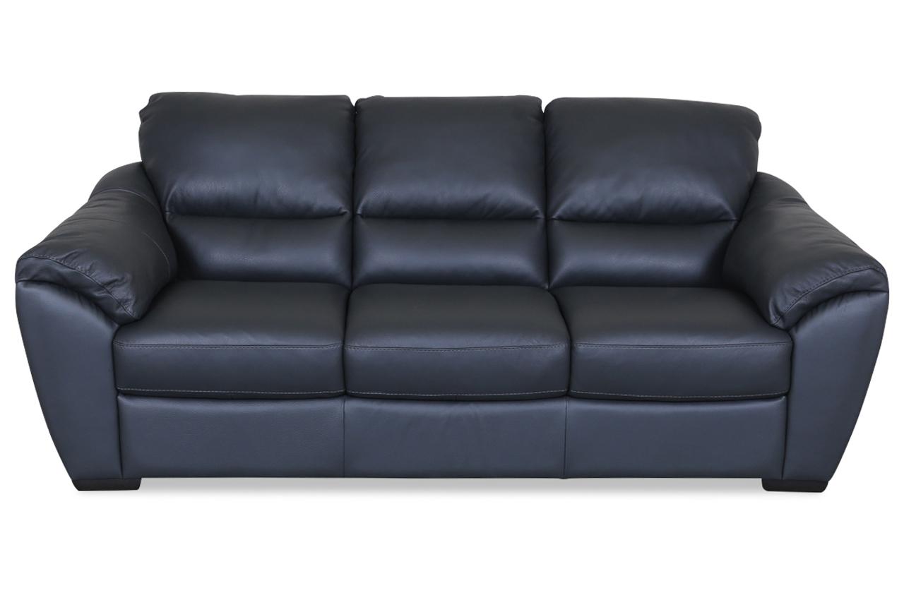 furntrade leder 3er sofa u048 grau sofas zum halben preis. Black Bedroom Furniture Sets. Home Design Ideas