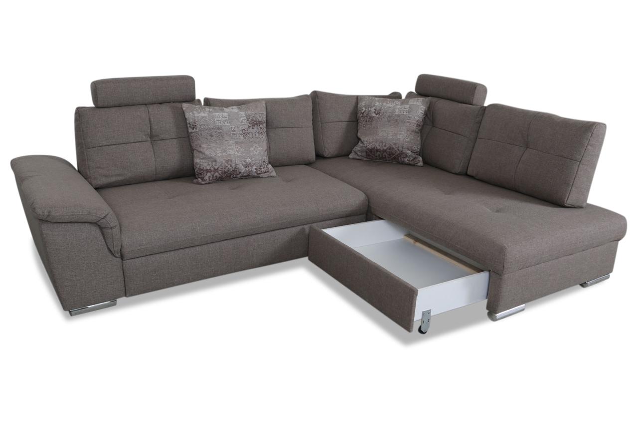 Ecksofa xl simon mit schlaffunktion braun sofas zum for Ecksofa 2 00