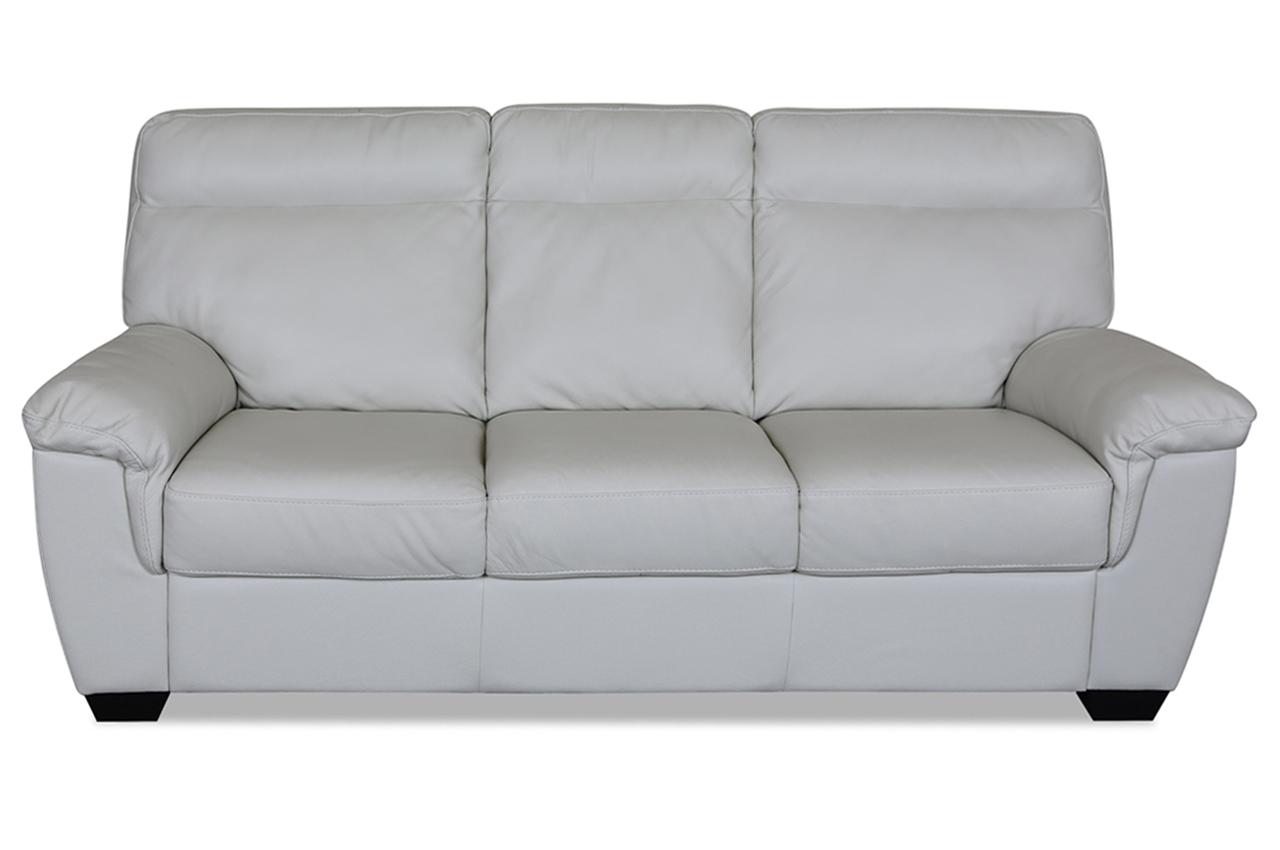 furntrade leder 3er sofa u222 creme mit federkern. Black Bedroom Furniture Sets. Home Design Ideas