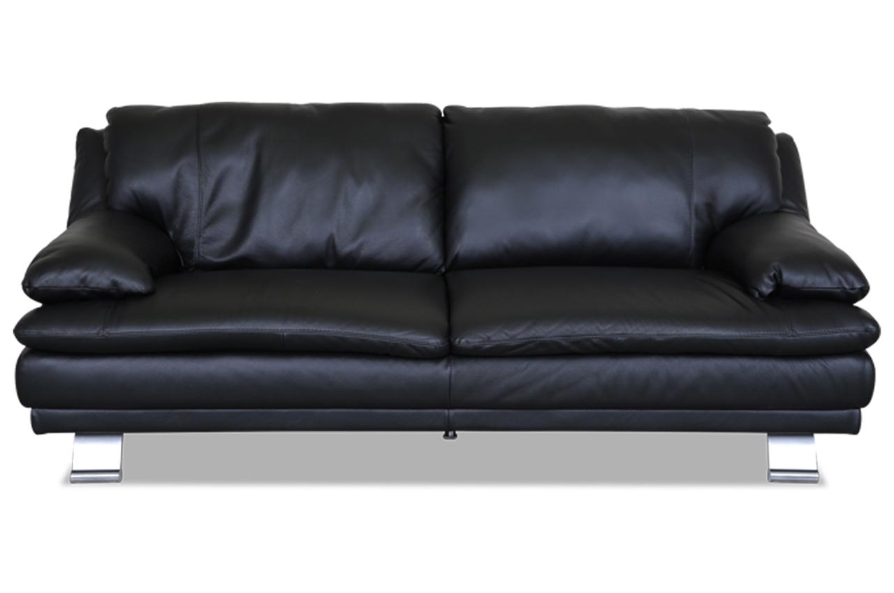furntrade 3er sofa u118 schwarz sofas zum halben preis. Black Bedroom Furniture Sets. Home Design Ideas