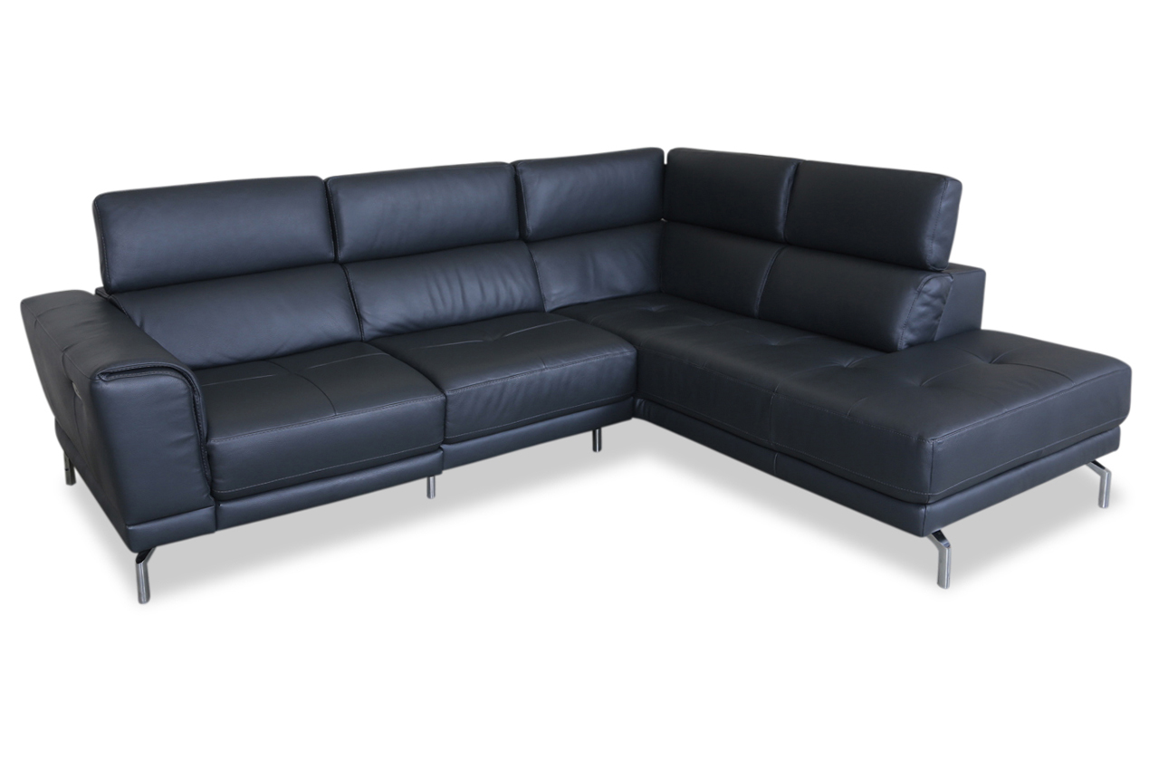 furntrade leder ecksofa xl u144 grau mit federkern sofas zum halben preis. Black Bedroom Furniture Sets. Home Design Ideas