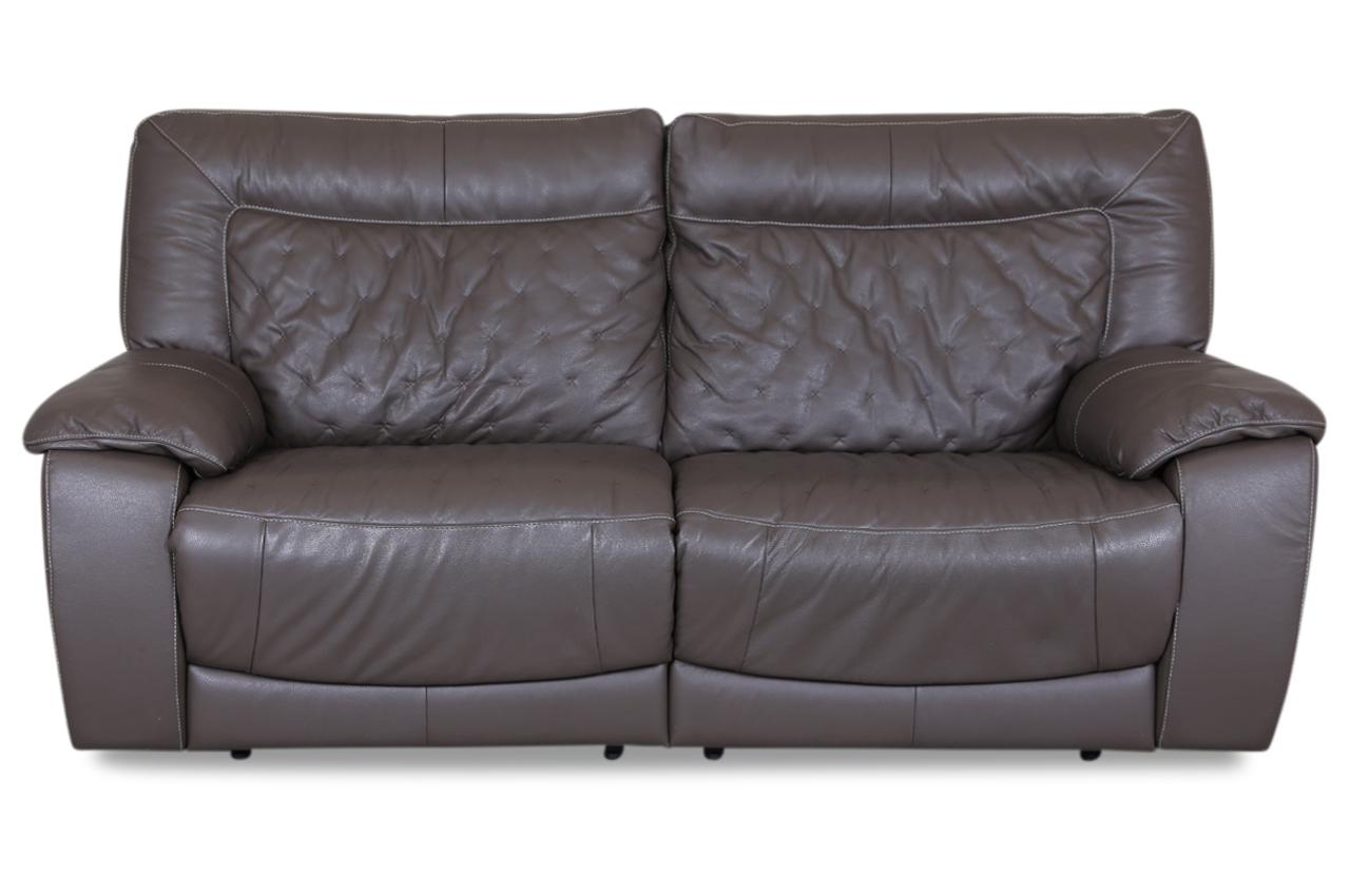 furntrade leder 3er sofa u205 braun mit federkern sofas zum halben preis. Black Bedroom Furniture Sets. Home Design Ideas