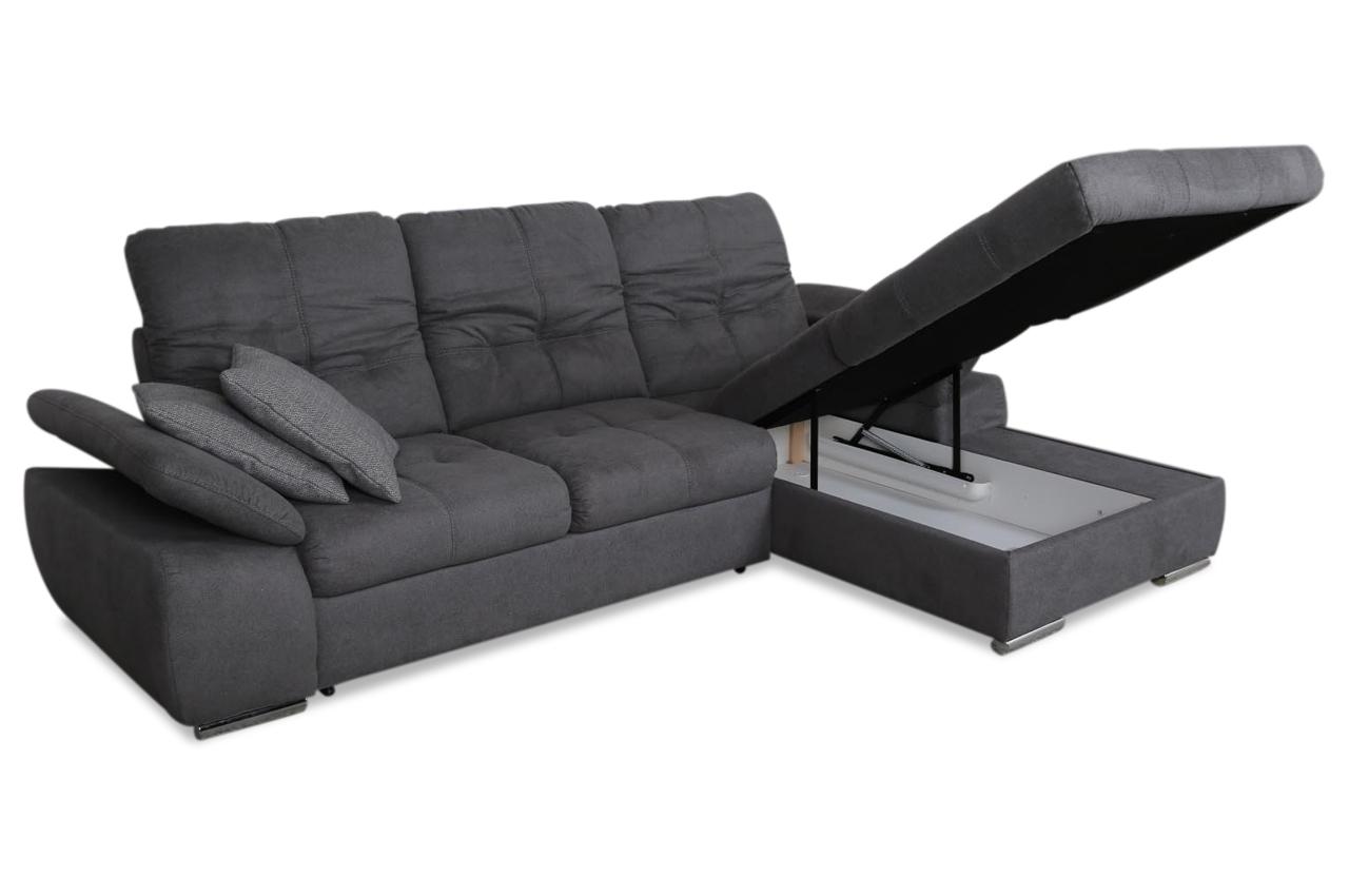 Ecksofa valentin mit schlaffunktion grau sofas zum for Ecksofa 2 00