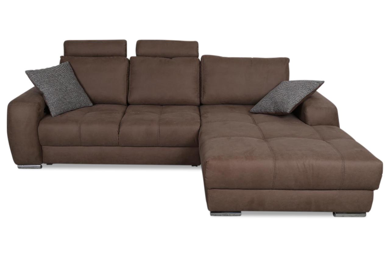 ecksofa marlon mit sitzverstellung braun sofas zum halben preis. Black Bedroom Furniture Sets. Home Design Ideas