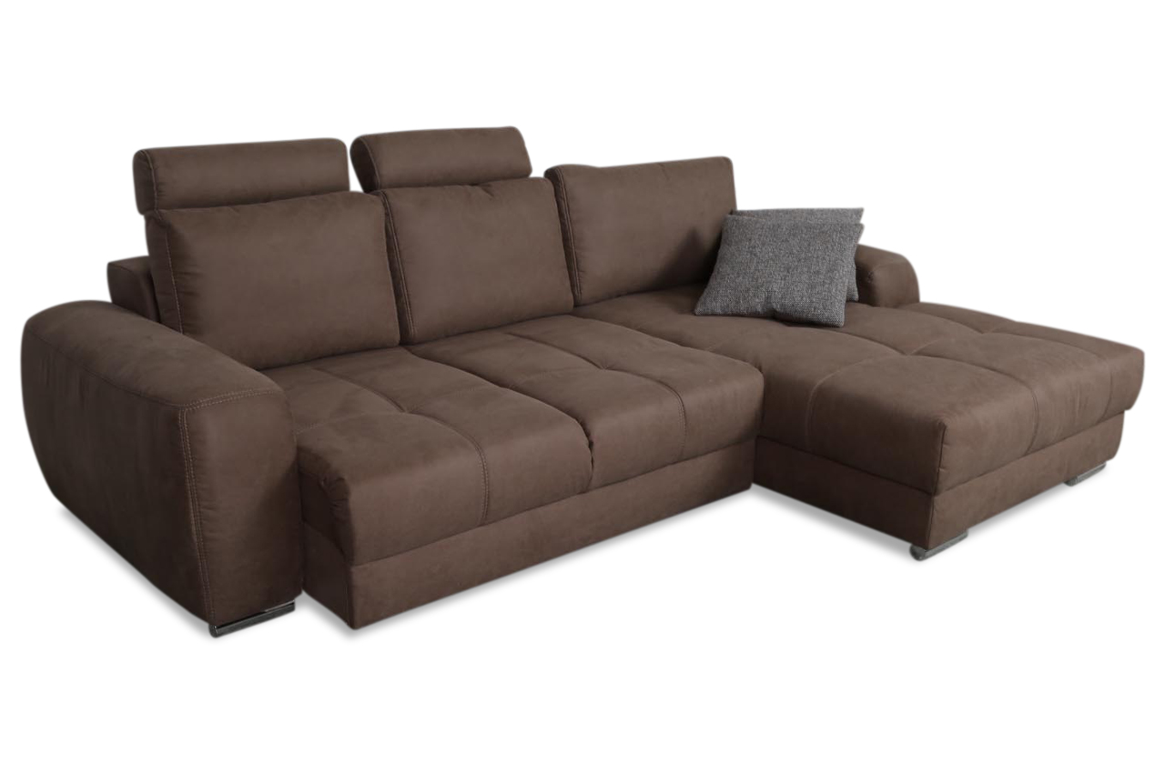 ecksofa marlon mit sitzverstellung braun sofas zum. Black Bedroom Furniture Sets. Home Design Ideas