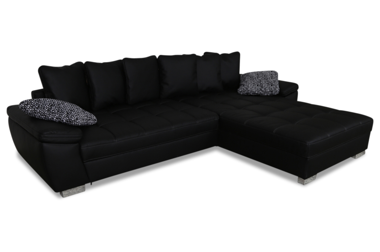 ecksofa jannik schwarz sofas zum halben preis. Black Bedroom Furniture Sets. Home Design Ideas