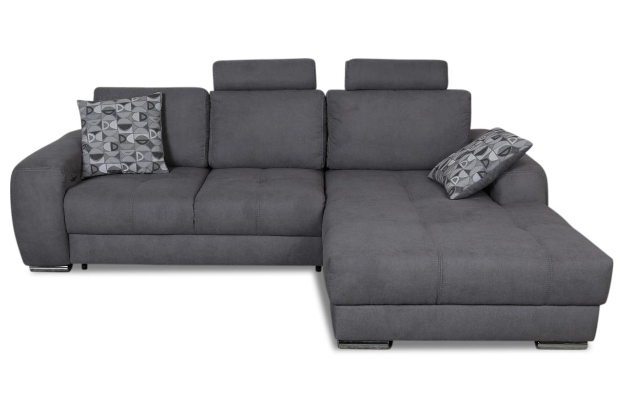 ecksofa marlon mit sitzverstellung grau sofas zum halben preis. Black Bedroom Furniture Sets. Home Design Ideas