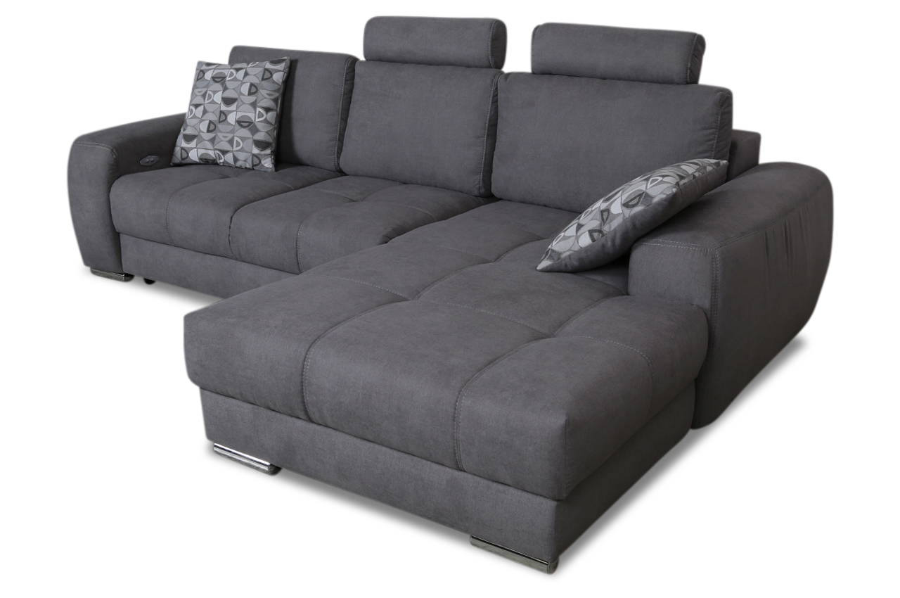 ecksofa marlon mit sitzverstellung grau sofas zum. Black Bedroom Furniture Sets. Home Design Ideas