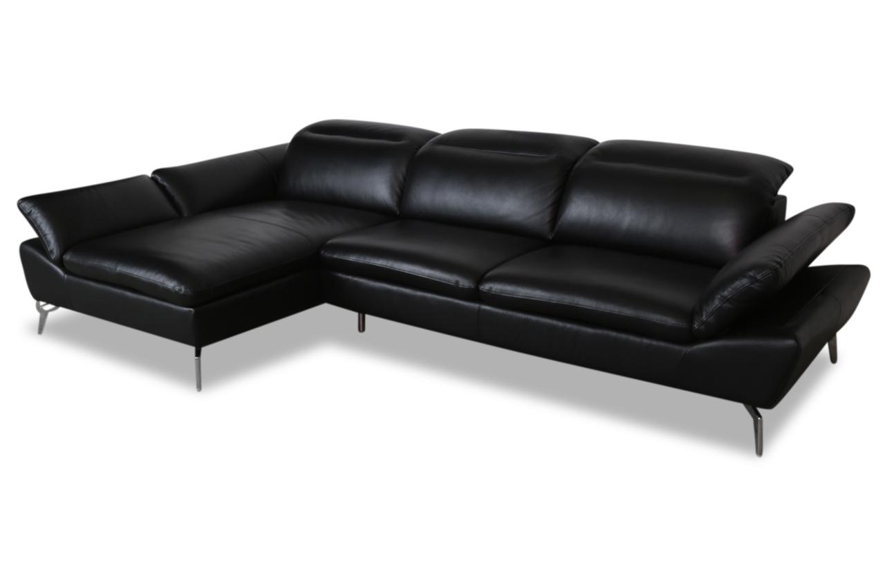 furntrade leder ecksofa z944 schwarz mit federkern sofas zum halben preis. Black Bedroom Furniture Sets. Home Design Ideas