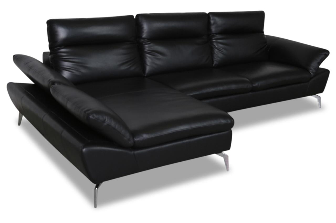 furntrade leder ecksofa z944 schwarz mit federkern. Black Bedroom Furniture Sets. Home Design Ideas
