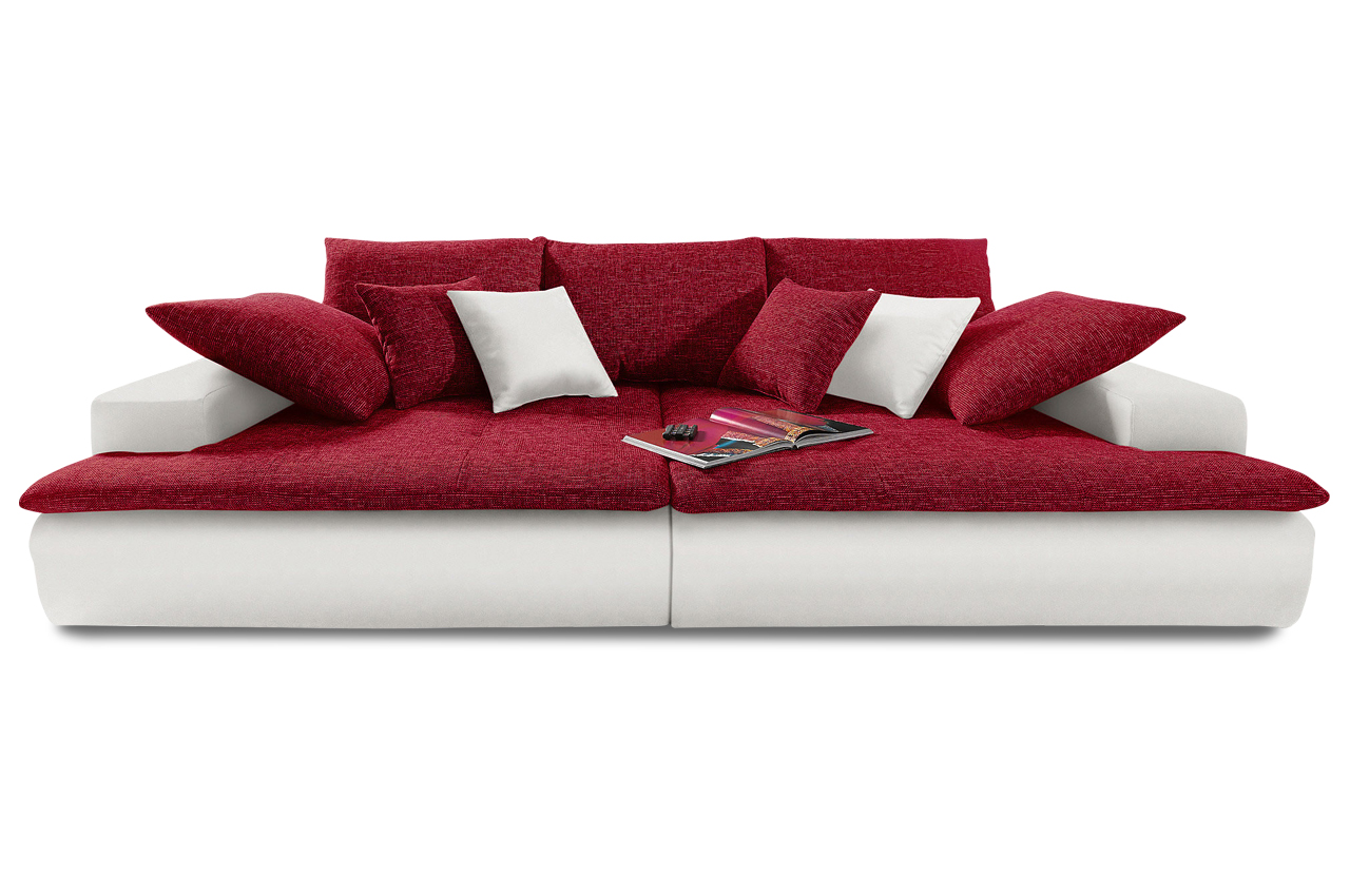 sofa couch ecksofa bigsofa haiti xxl kunstleder webstoff weiss rot ebay. Black Bedroom Furniture Sets. Home Design Ideas