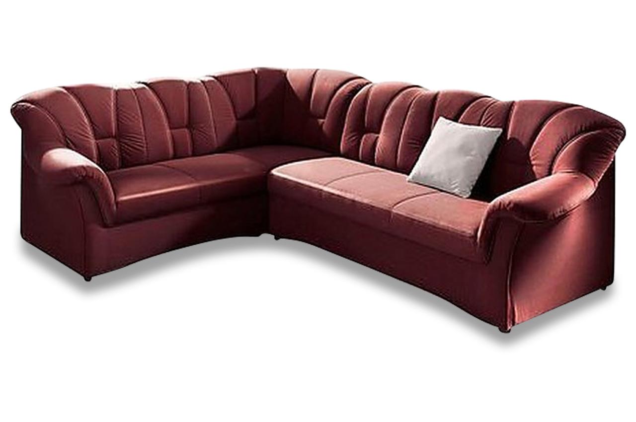 Ecksofa xl papenburg m mit schlaffunktion rot sofas for Ecksofa 2 00