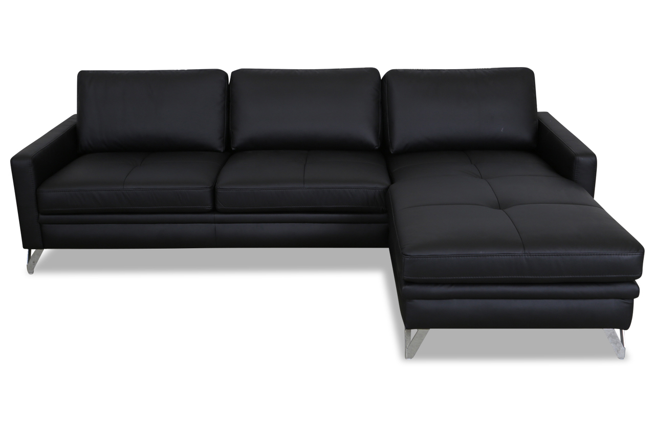 aek leder ecksofa bell schwarz sofas zum halben preis. Black Bedroom Furniture Sets. Home Design Ideas