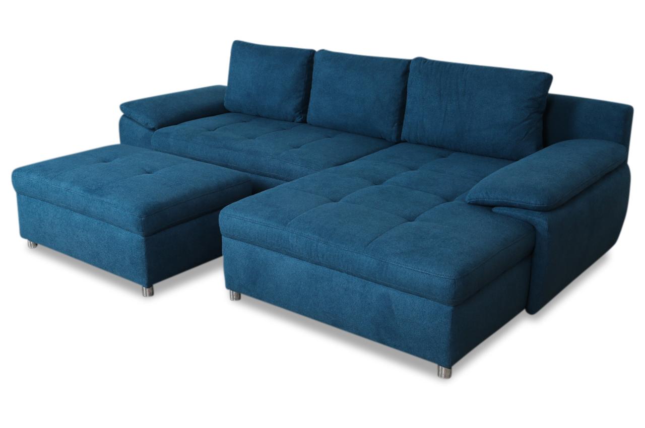 ecksofa mit hocker mit schlaffunktion blau sofas zum. Black Bedroom Furniture Sets. Home Design Ideas