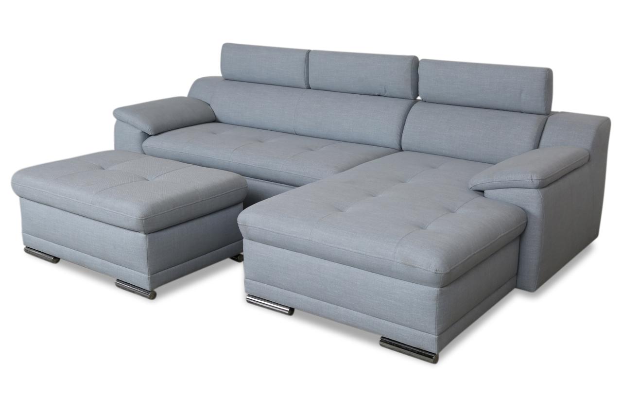 ecksofa mit hocker mit schlaffunktion blau sofas zum halben preis. Black Bedroom Furniture Sets. Home Design Ideas