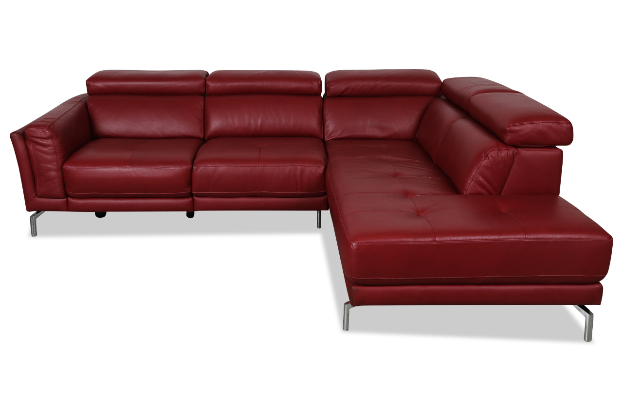 furntrade leder ecksofa xl u239 rot sofas zum halben preis. Black Bedroom Furniture Sets. Home Design Ideas