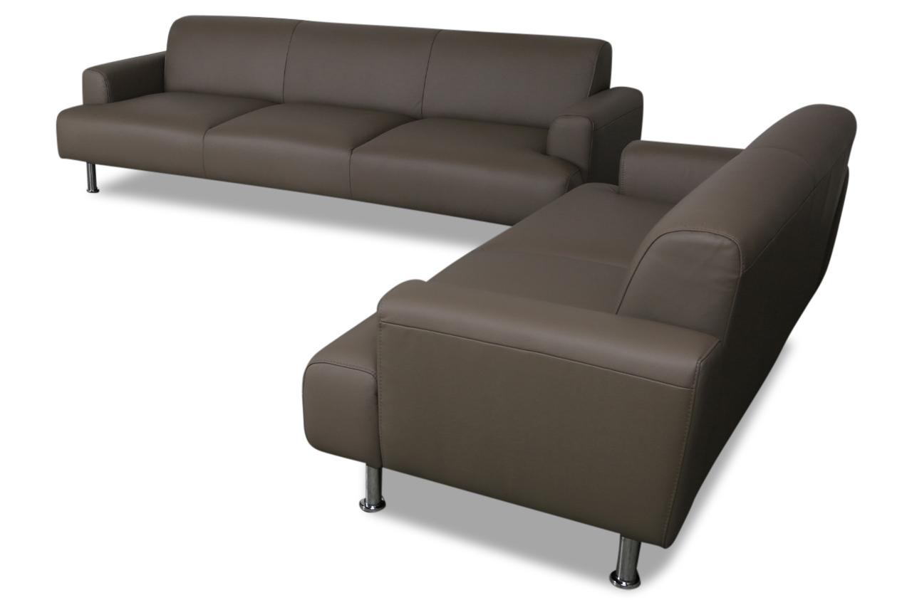 aek leder garnitur 3 2 amsterdam braun sofas zum. Black Bedroom Furniture Sets. Home Design Ideas