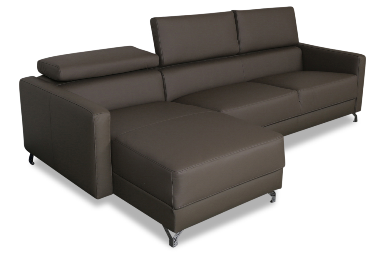 aek leder ecksofa detroit braun sofas zum halben preis. Black Bedroom Furniture Sets. Home Design Ideas