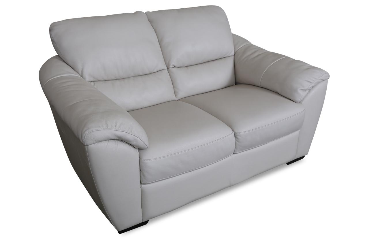 furntrade leder 2er sofa u048 creme mit federkern sofas zum halben preis. Black Bedroom Furniture Sets. Home Design Ideas