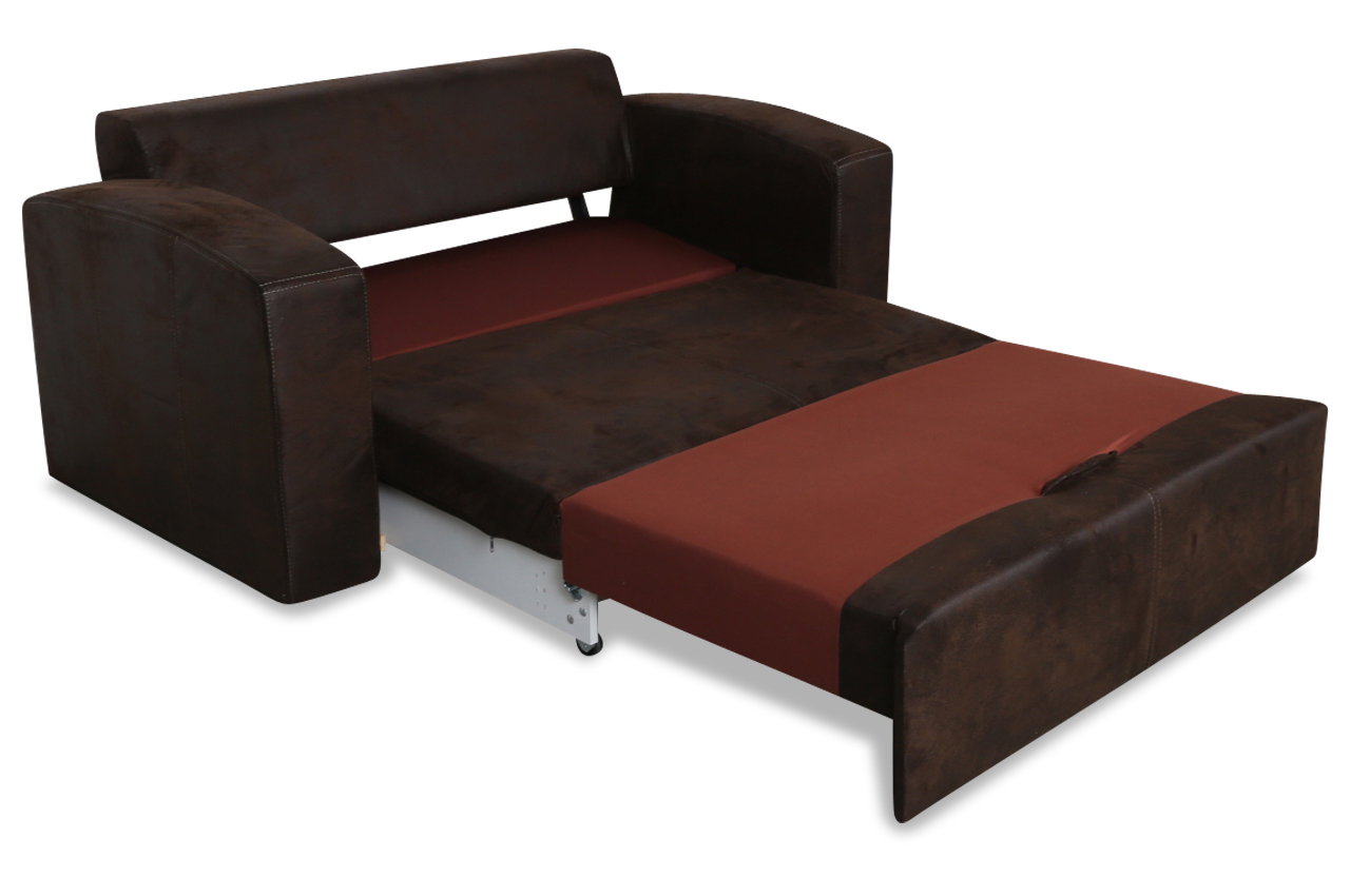 furntrade 2er sofa nils mit schlaffunktion braun. Black Bedroom Furniture Sets. Home Design Ideas