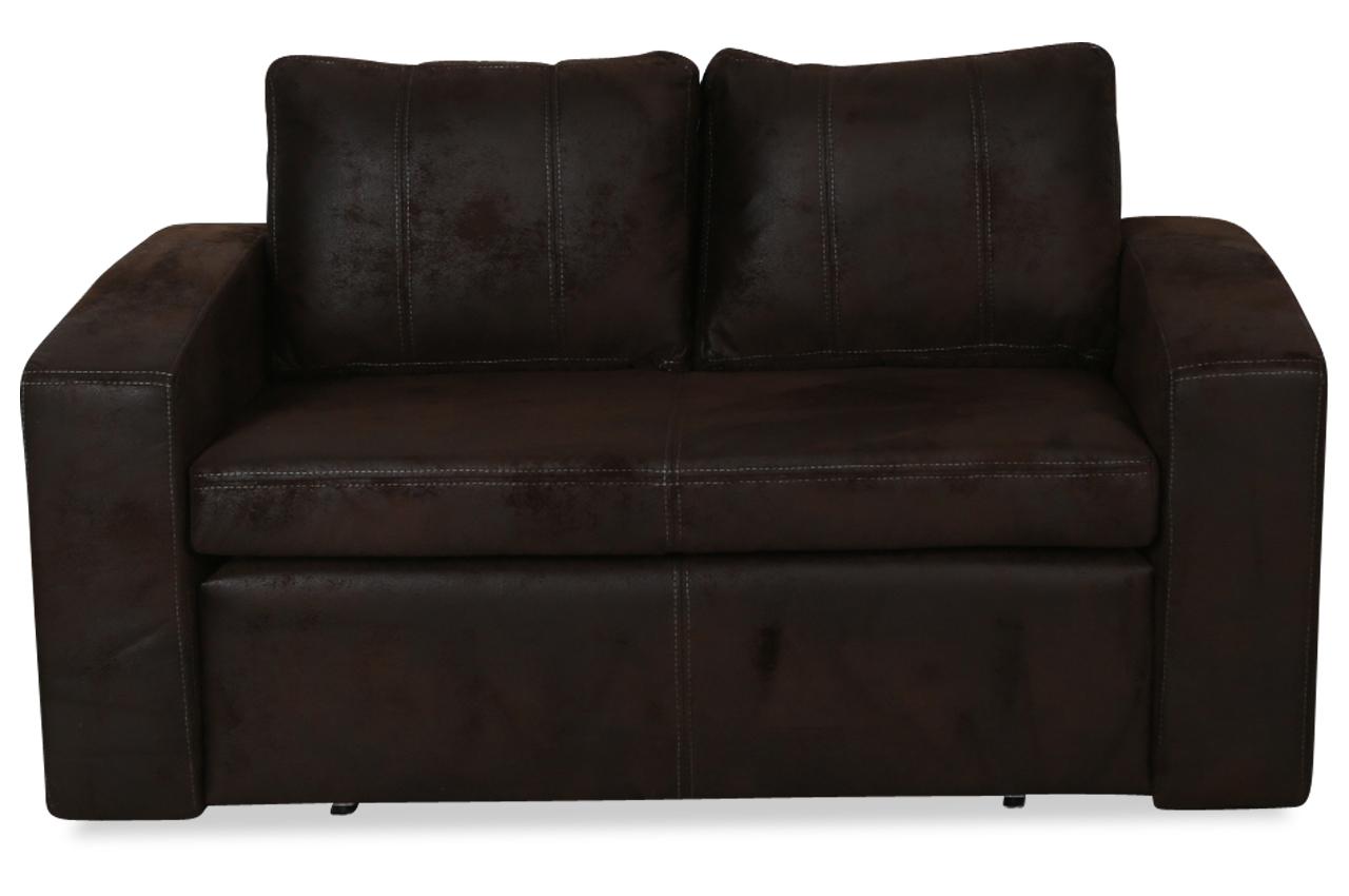 furntrade 2er sofa nils mit schlaffunktion braun. Black Bedroom Furniture Sets. Home Design Ideas