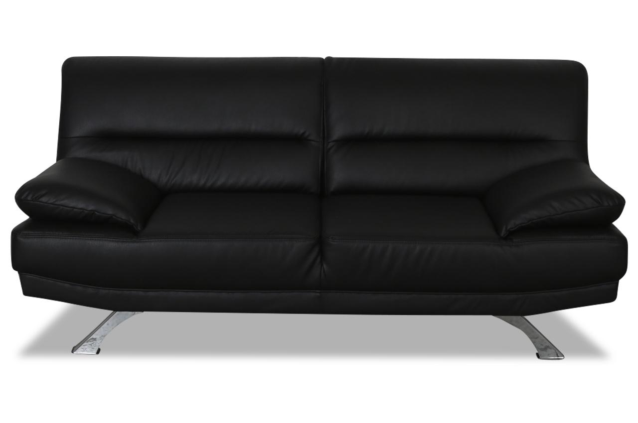 2er sofa bruno schwarz sofas zum halben preis. Black Bedroom Furniture Sets. Home Design Ideas