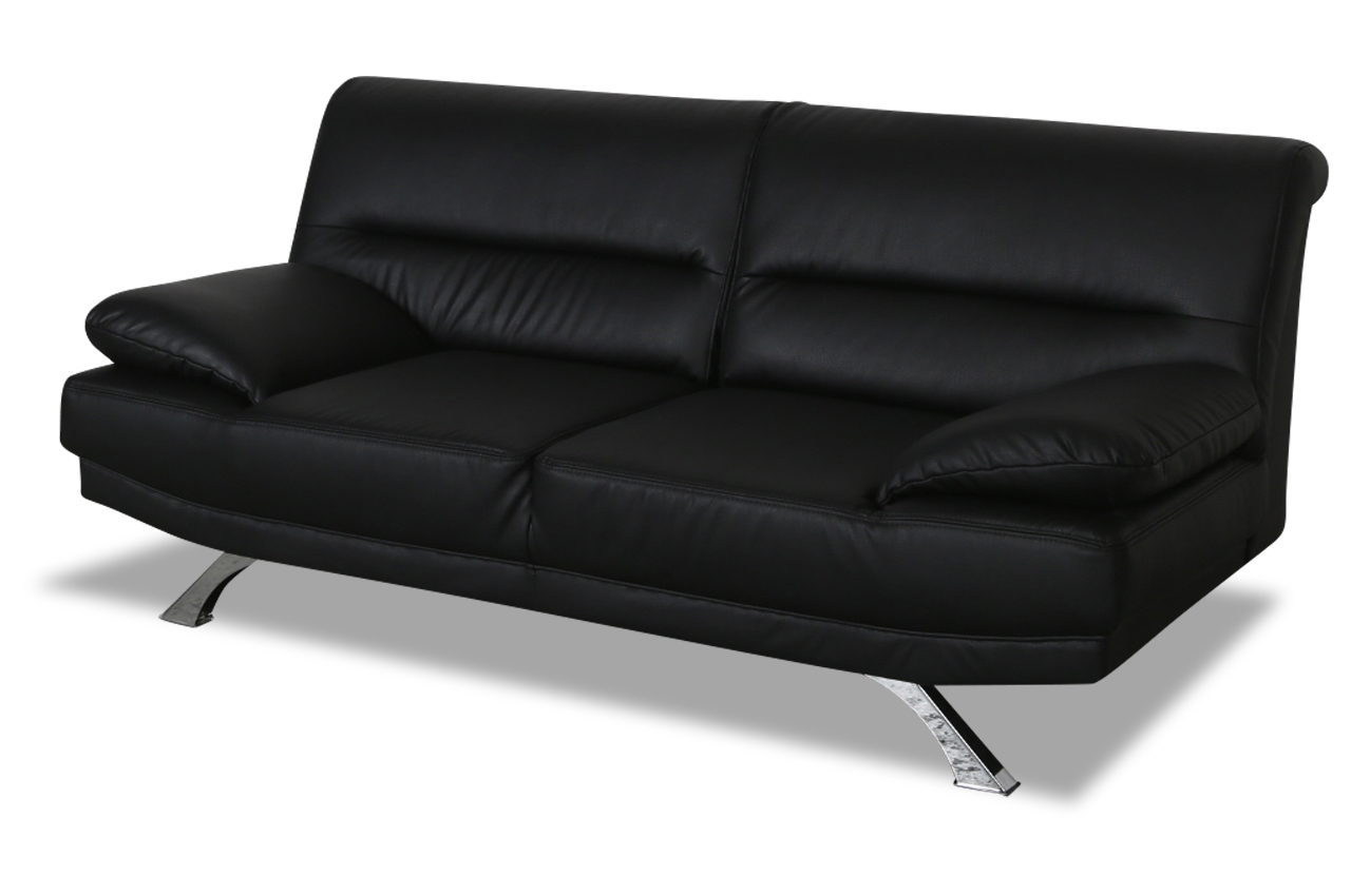 2er sofa bruno schwarz sofas zum halben preis. Black Bedroom Furniture Sets. Home Design Ideas