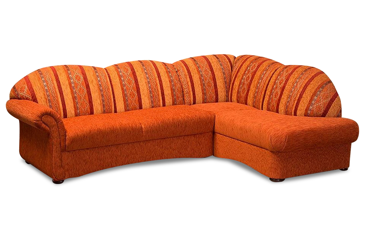 ecksofa xl mit schlaffunktion orange mit federkern. Black Bedroom Furniture Sets. Home Design Ideas