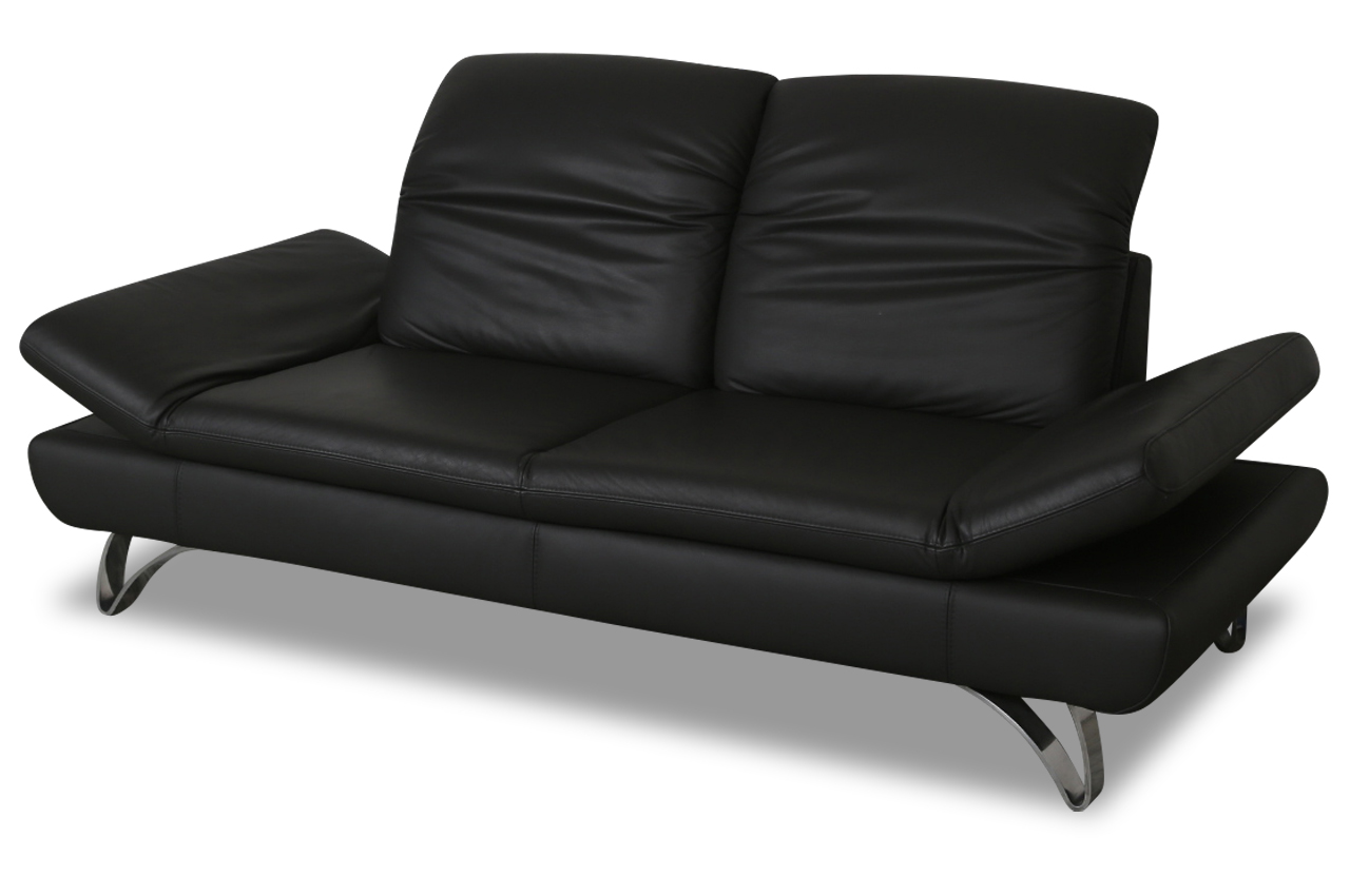 sofa team leder 2er sofa 577 schwarz sofas zum halben preis. Black Bedroom Furniture Sets. Home Design Ideas