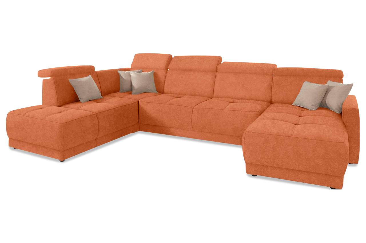 Wohnlandschaft Ava Orange Sofas Zum Halben Preis