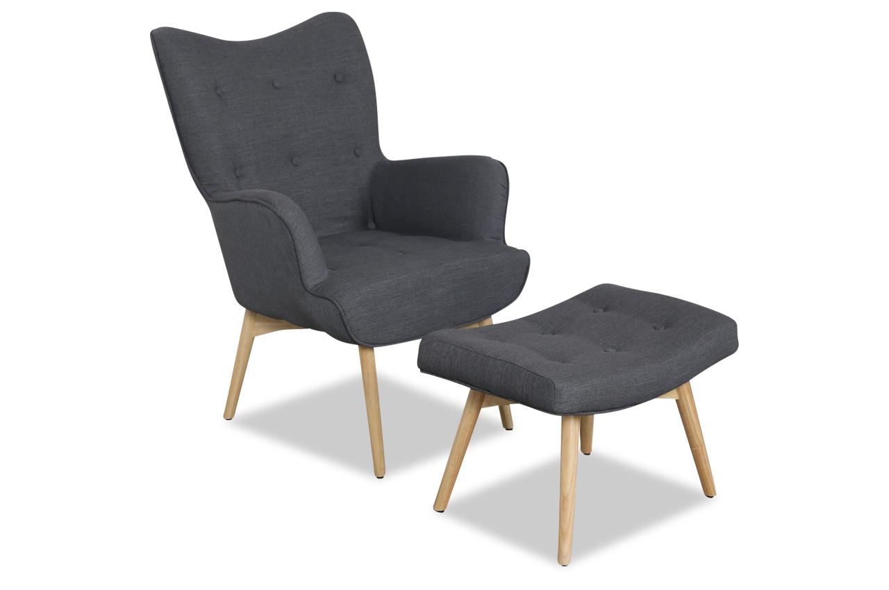 Aek Sessel Esben Mit Hocker Grau Sofas Zum Halben Preis