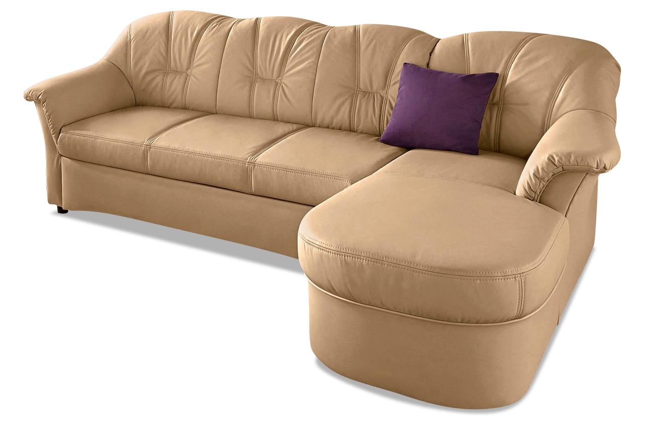leder ecksofa flores mit schlaffunktion creme sofas zum halben preis. Black Bedroom Furniture Sets. Home Design Ideas
