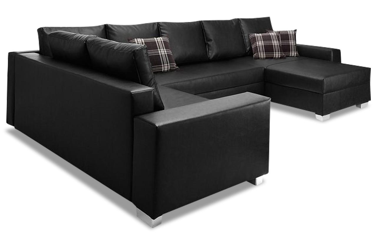 collection ab wohnlandschaft paris schwarz mit federkern sofas zum halben preis. Black Bedroom Furniture Sets. Home Design Ideas